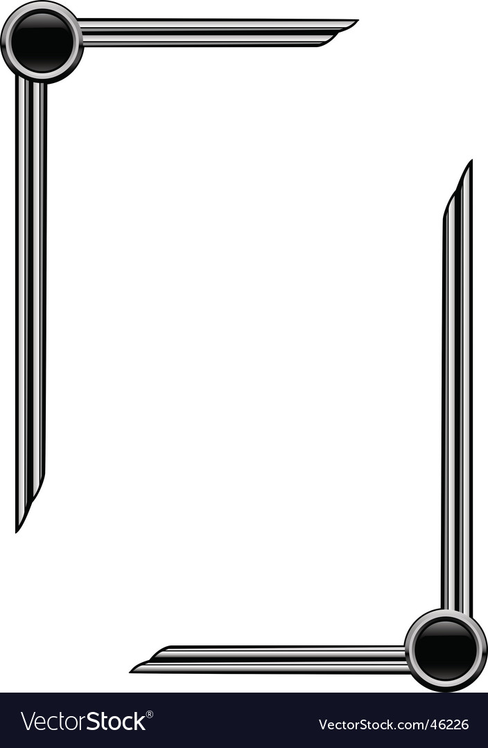 Art deco page borders vector image