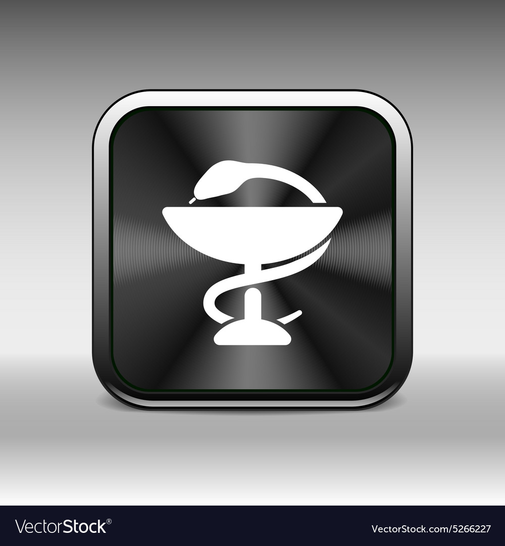 Black icon snakes and glass Raster aid ambulance vector image
