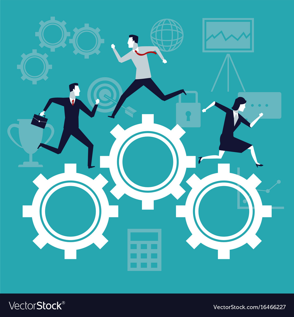 Color background business growth with business vector image
