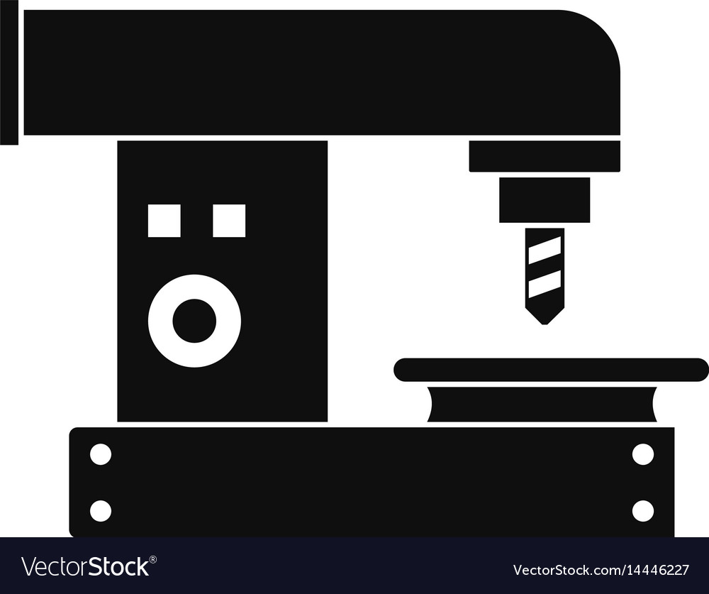 Drilling machine icon simple style vector image
