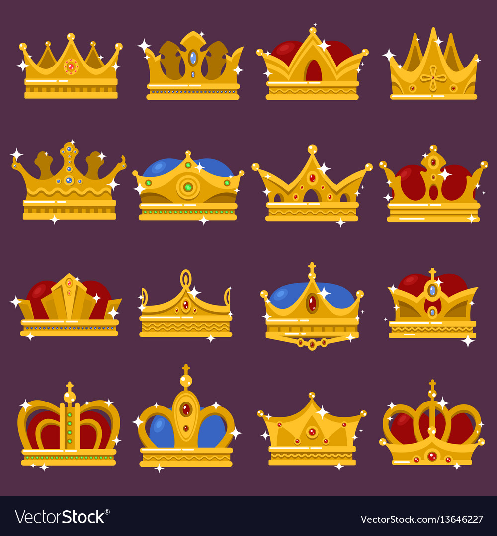 Monarch shining crown pope tiara queen headdress vector image