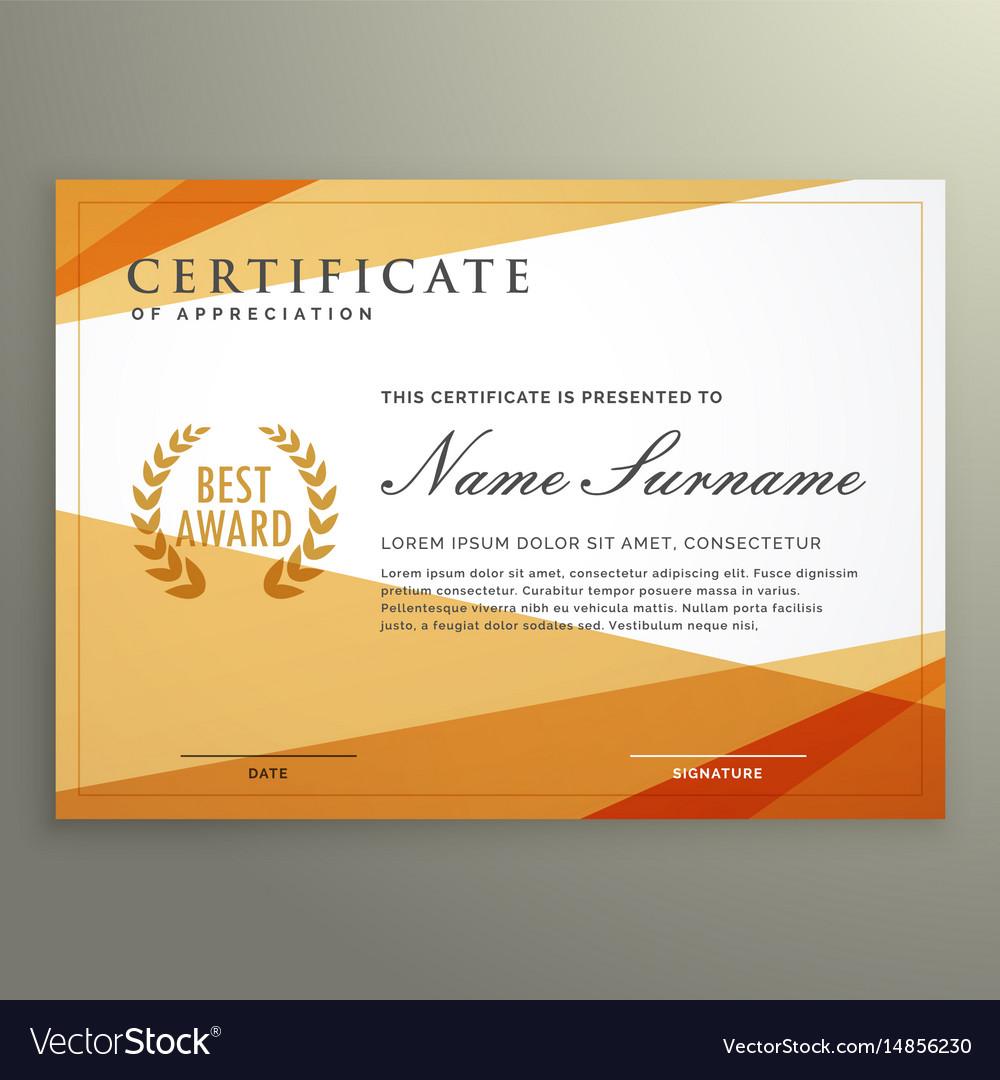 Geometric certificate design template royalty free vector geometric certificate design template vector image alramifo Images