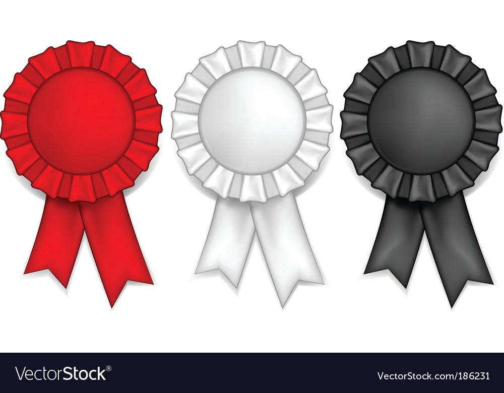 Award ribbons vector image