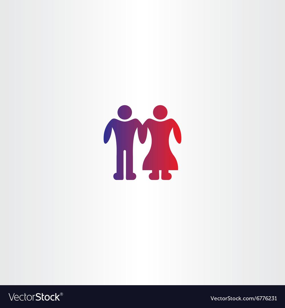Bride and grooms boy couple icon vector image