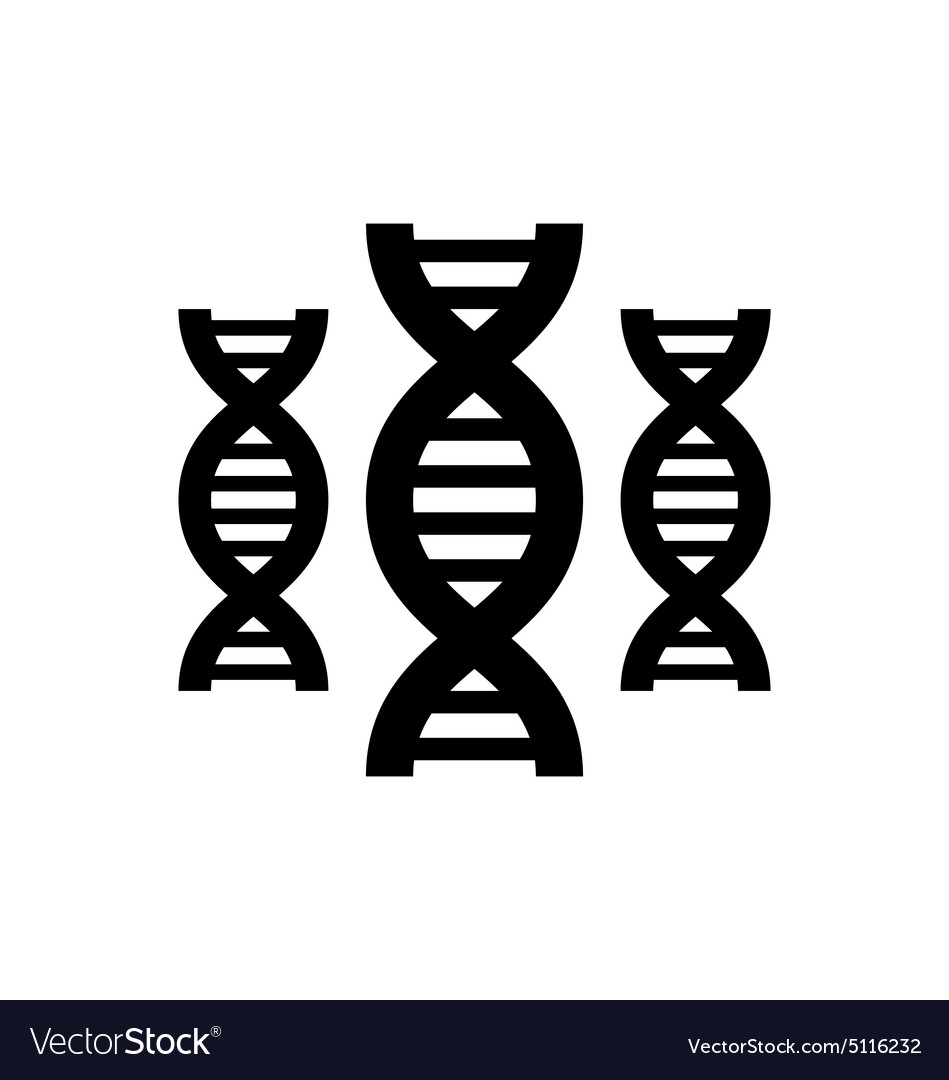 Pictogram of DNA vector image