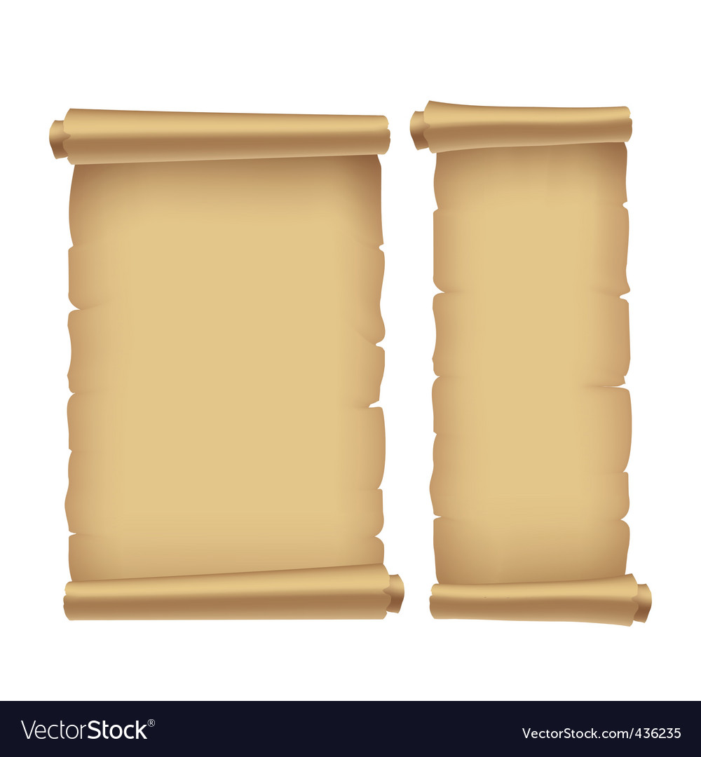 Old parchment vector image