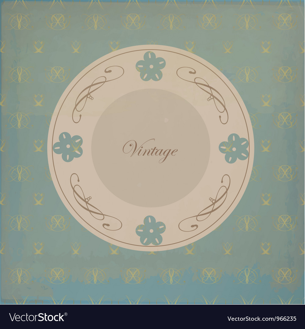 Old pattern vector image