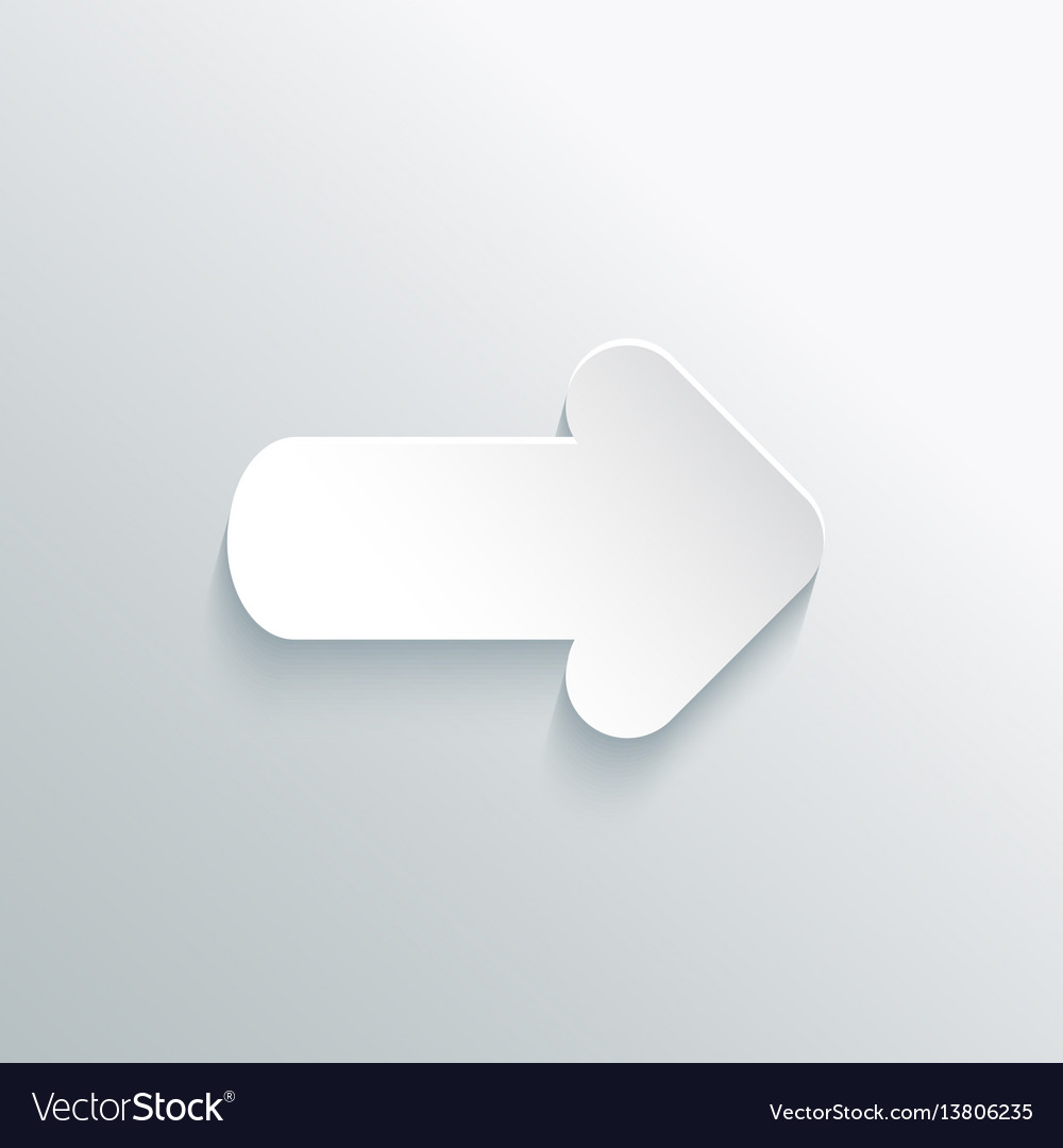 White paper cut arrow vector image