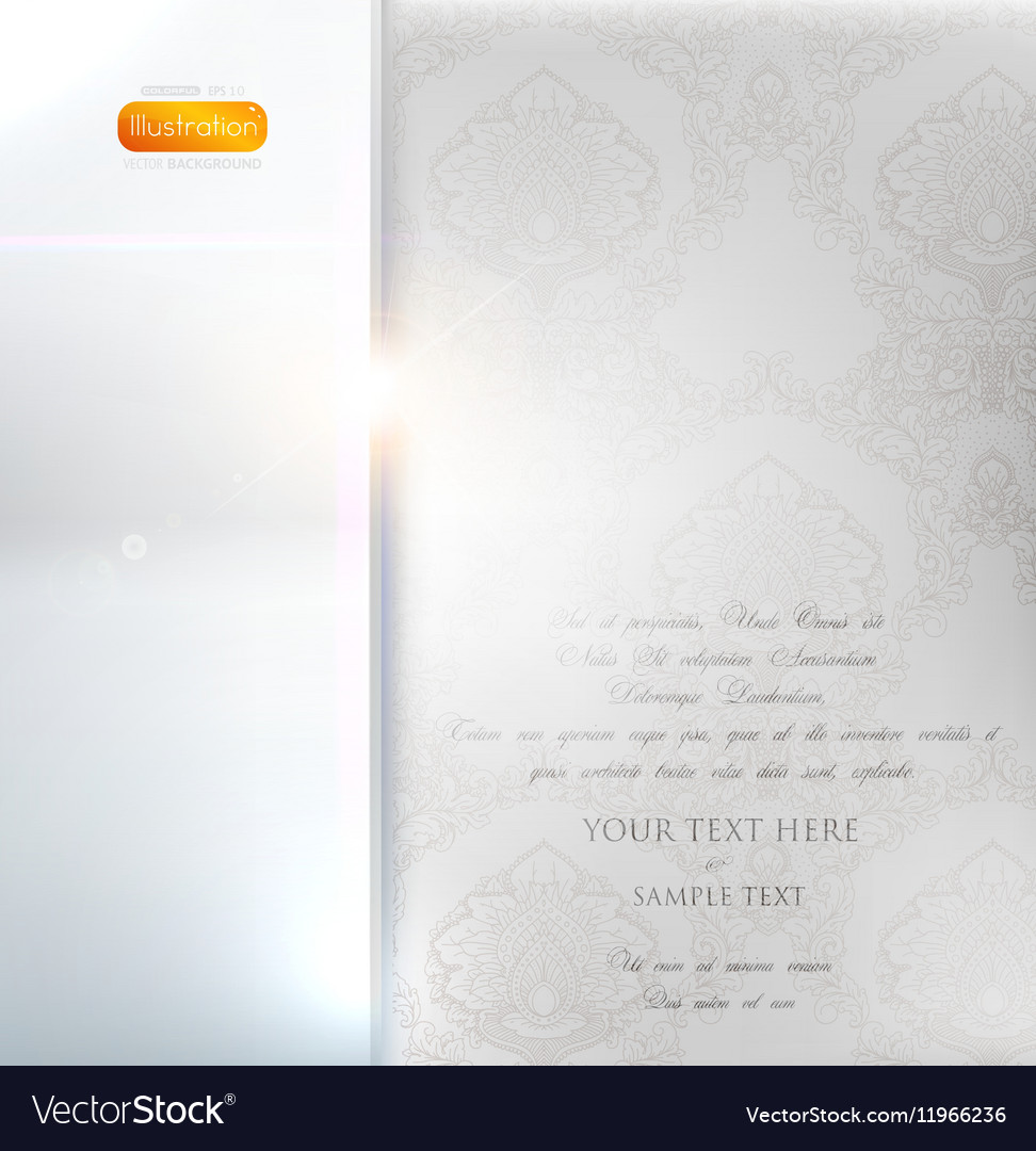 Classical White Floral Invitation vector image