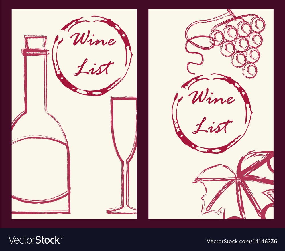 Wine business cards set Royalty Free Vector Image