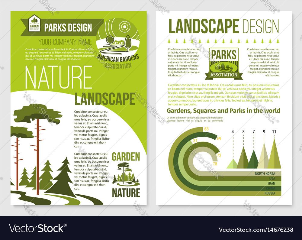 Brochure for nature landscape design vector image