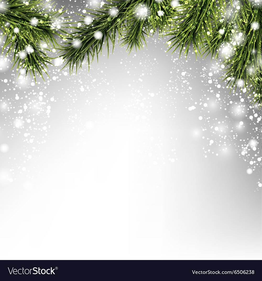 Winter xmas background vector image