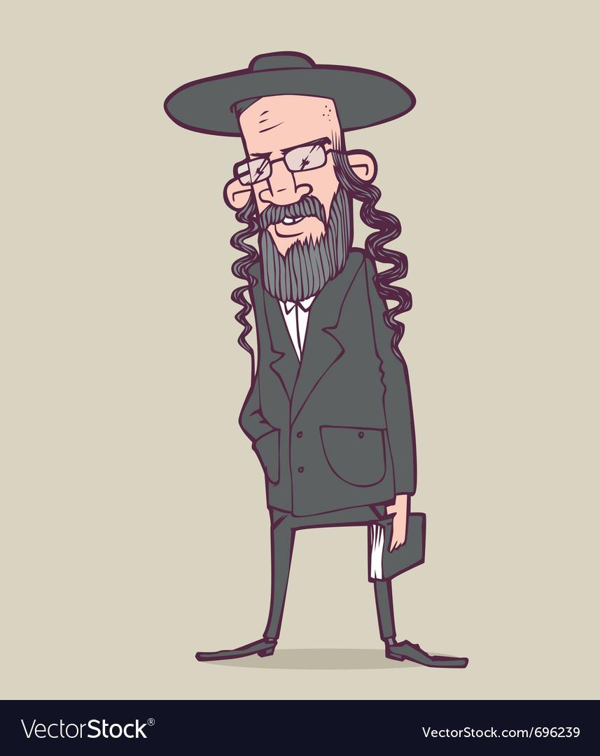 Jewish man vector image