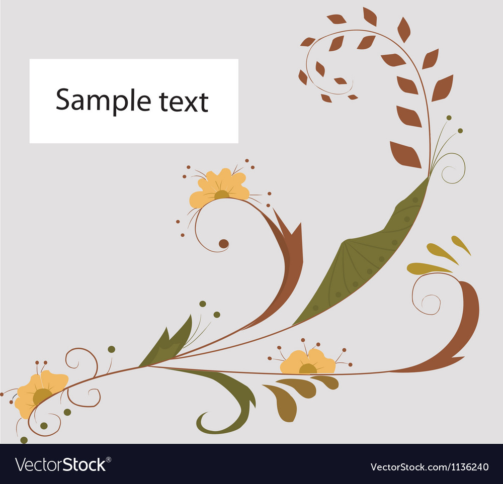 Floral background silhouette vector image