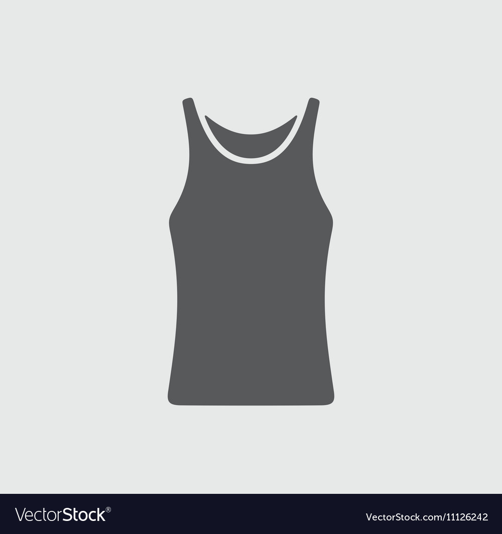 Singlet icon on background vector image