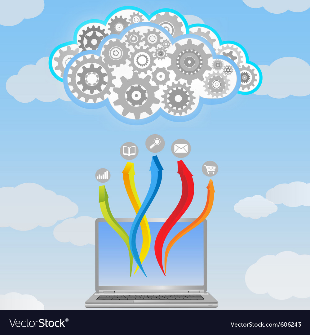 Cloud computing vector image