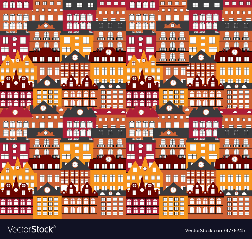 Background building seamless vector image