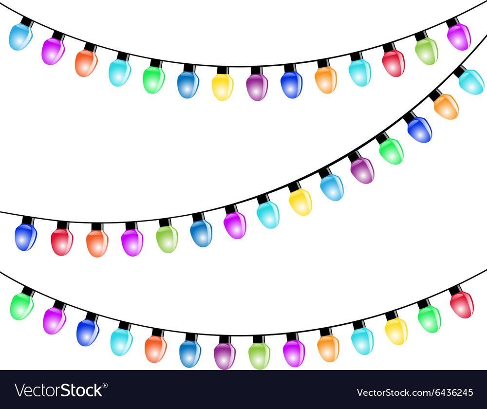 Christmas light bulbs vector image