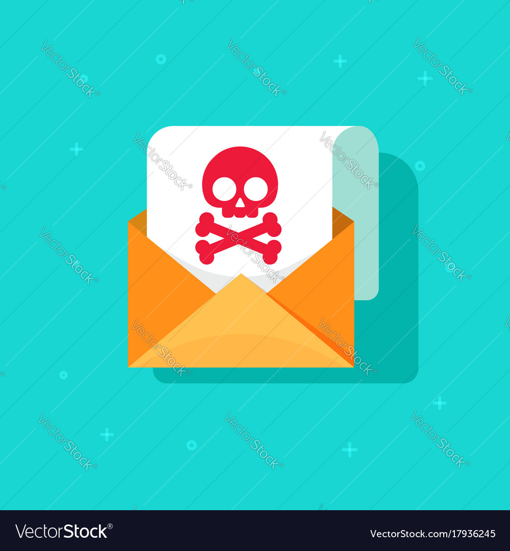 Email spam icon idea scam e-mail message concept vector image
