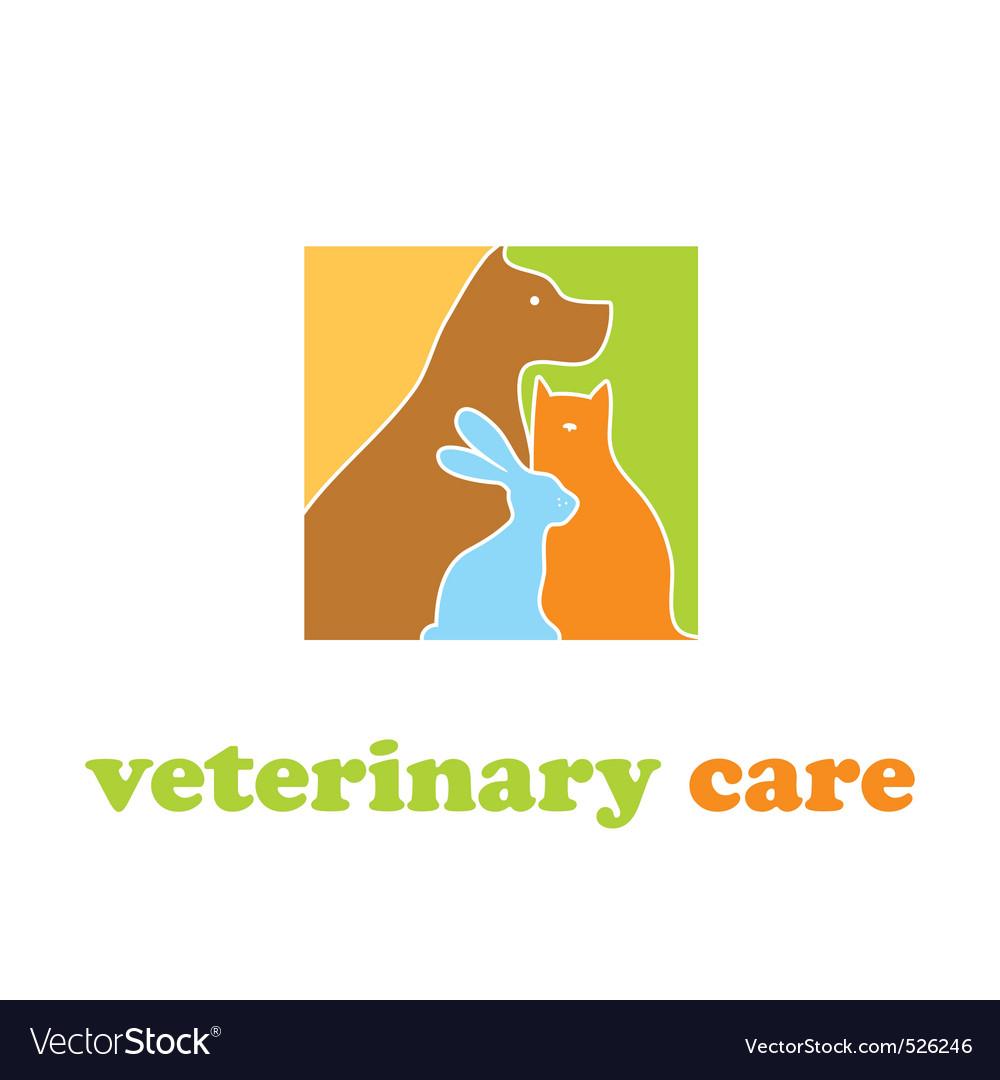 Veterinary care vector image