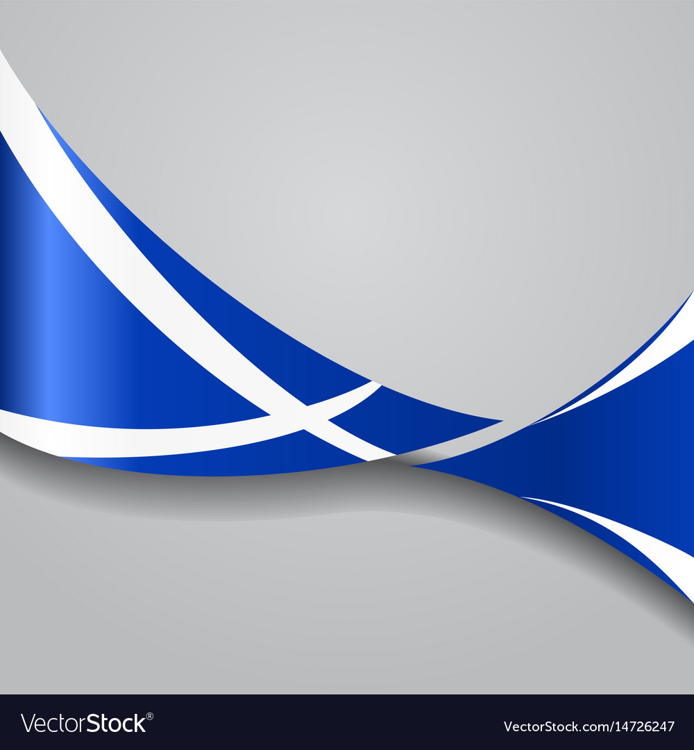 Scottish wavy flag vector image