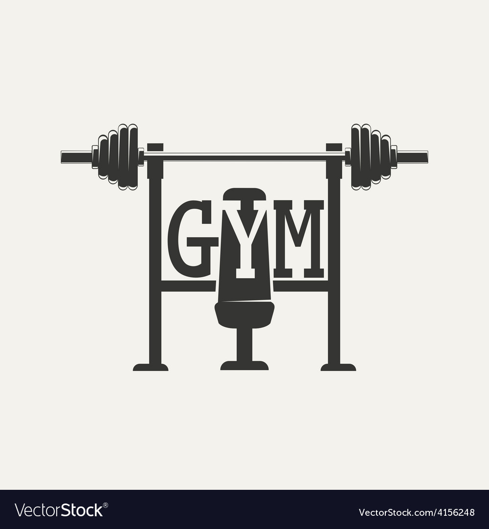 Barbell logo vector image