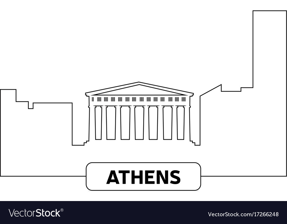 Cityscape of athens vector image