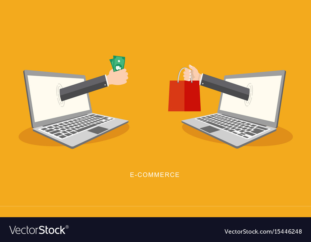 Internet payment concept flat vector image