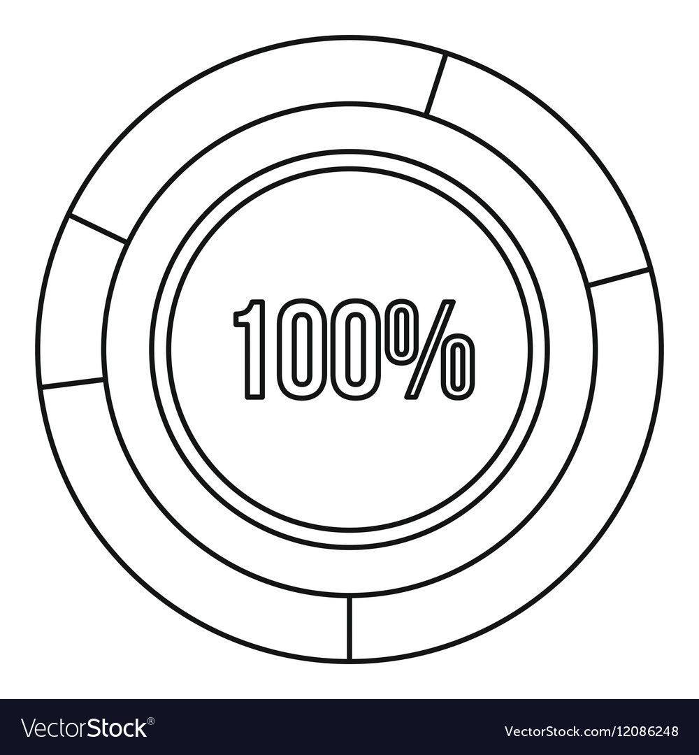 Pie chart circle graph 100 percent icon royalty free vector pie chart circle graph 100 percent icon vector image geenschuldenfo Gallery