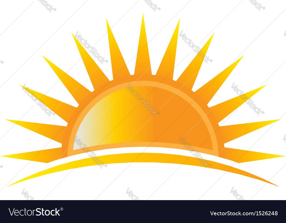 Sun rise logo vector image