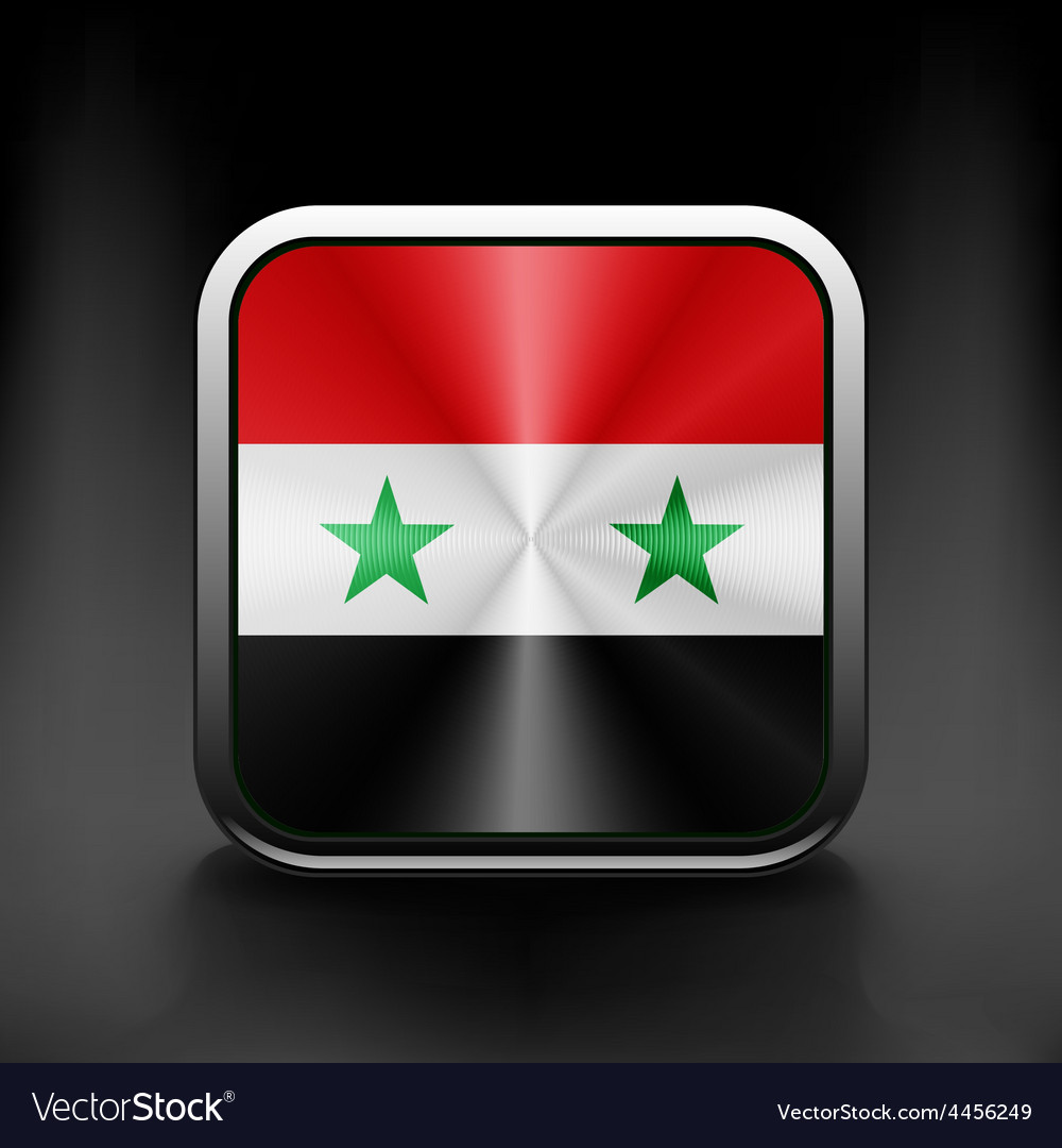 Syria Flag National Travel Icon Country Symbol Vector Image - Syria flag