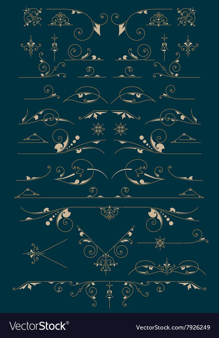Vintage Ornaments Design Elements vector image