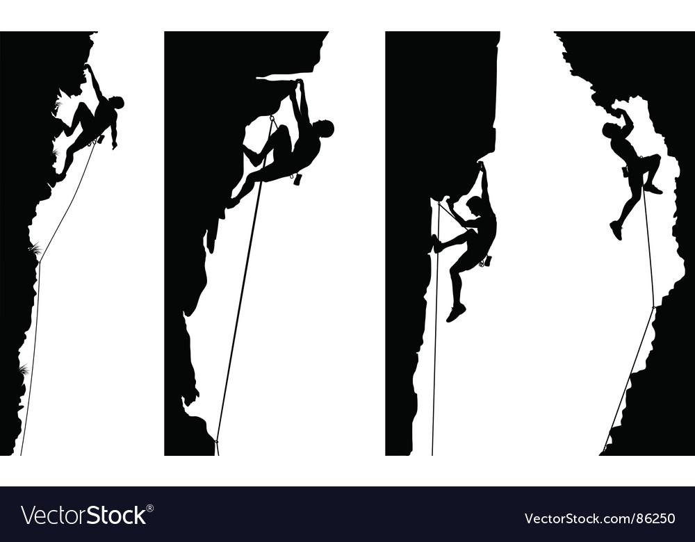 Climbers Vector Image