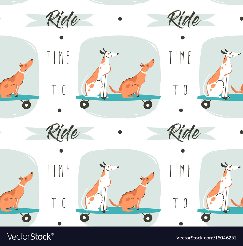 Hand drawn cartoon drawing summer time fun vector image