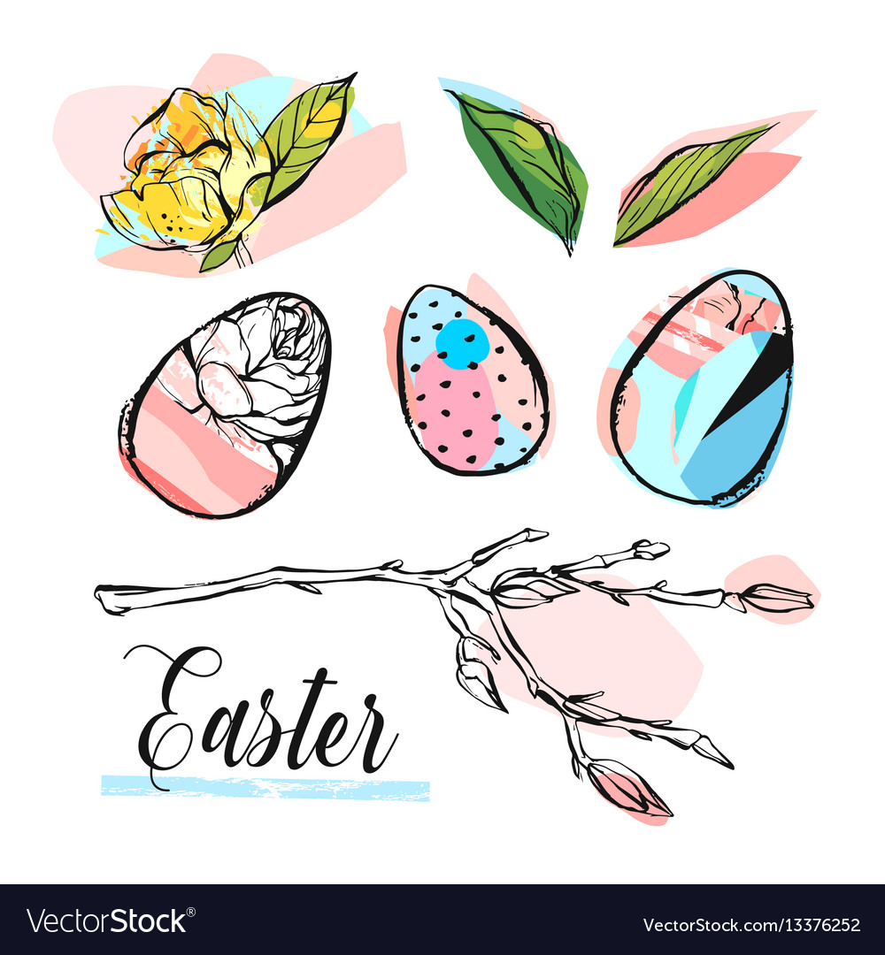 Hand drawn abstract creative graphic brush vector image