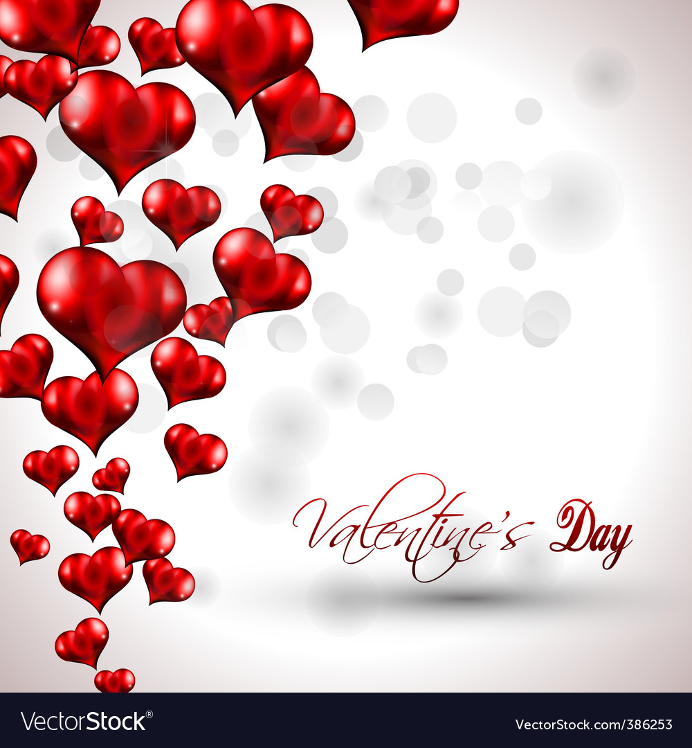 Valentines poster Vector Image