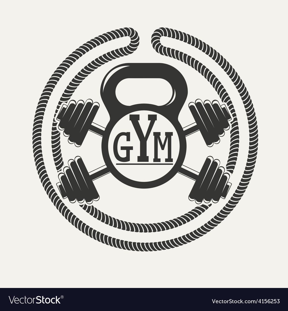 GYM logo Royalty Free Vector Image - VectorStock for Gym Logo Pictures  150ifm
