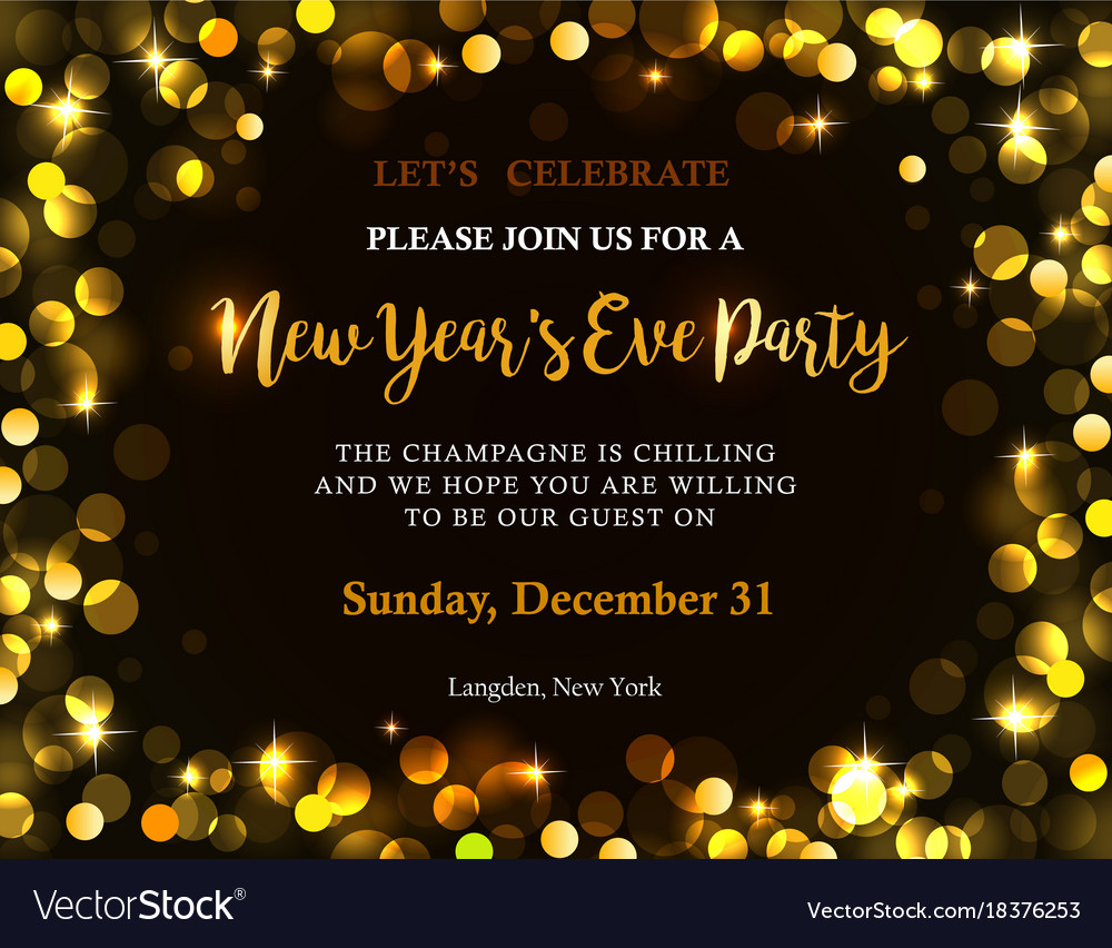 New year party invitation Royalty Free Vector Image