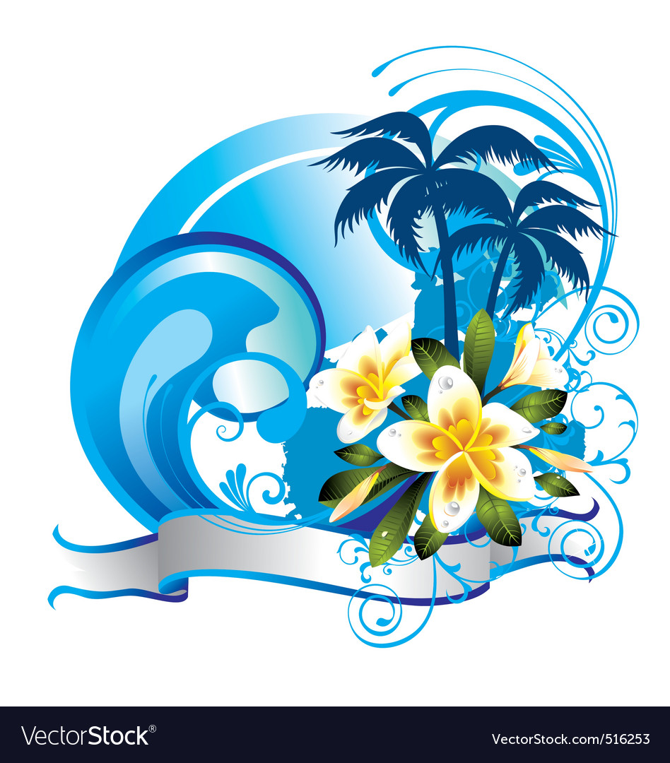 Summer illustration vector image
