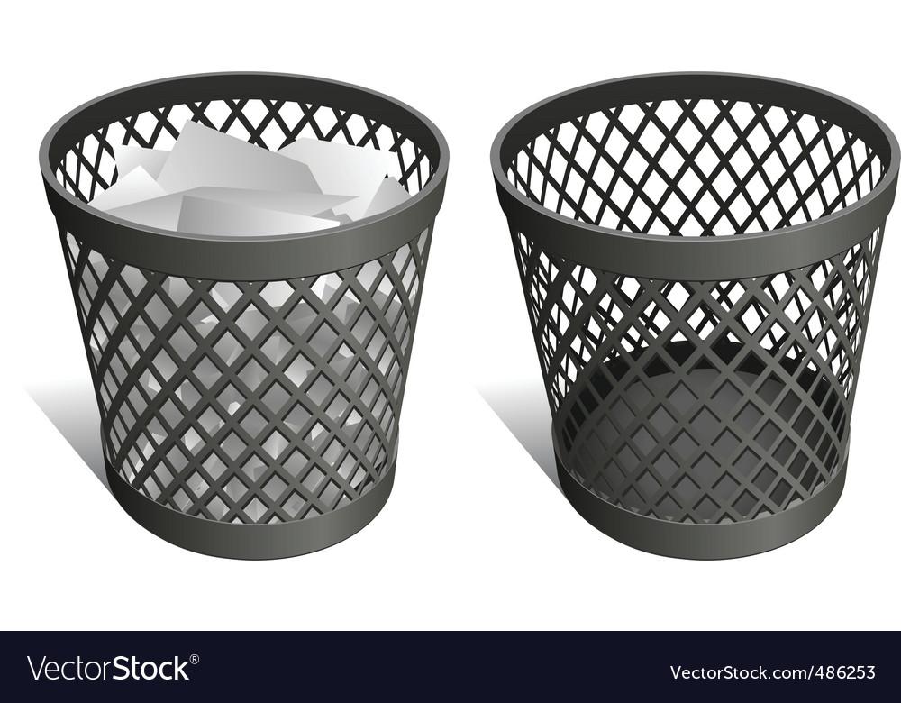 Wastepaper basket vector image