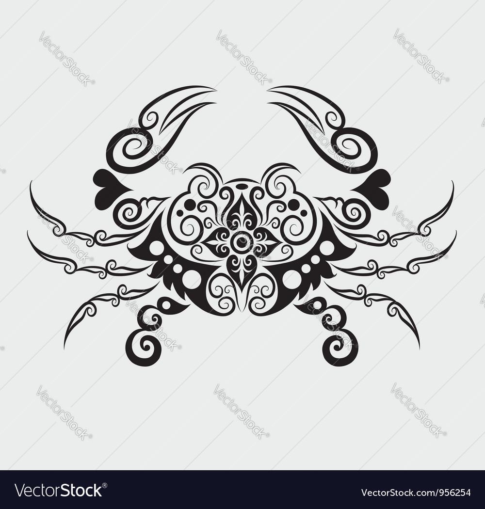 Crab ornament vector image