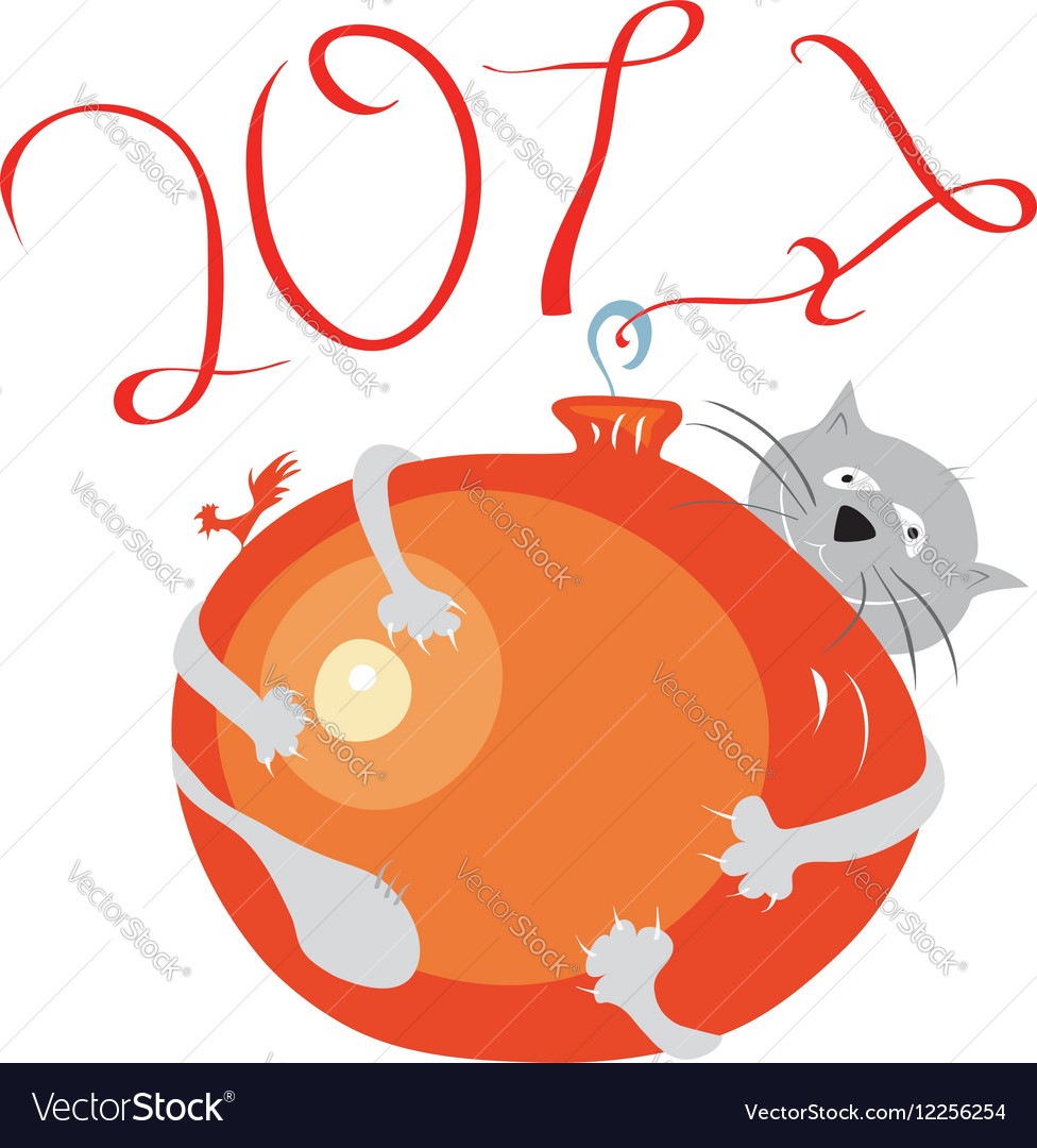 Favorite game of the new year 2017 vector image