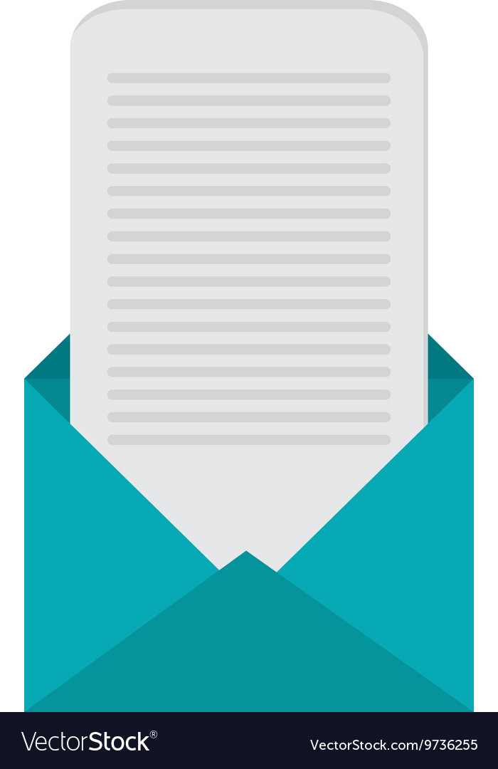 open envelope with paper open envelope with message coming out icon vector image