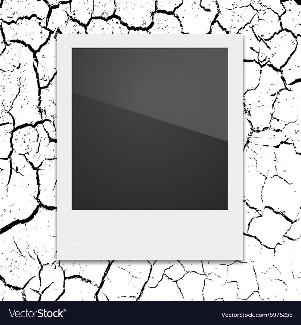 Retro Polaroid photo frame on the background vector image