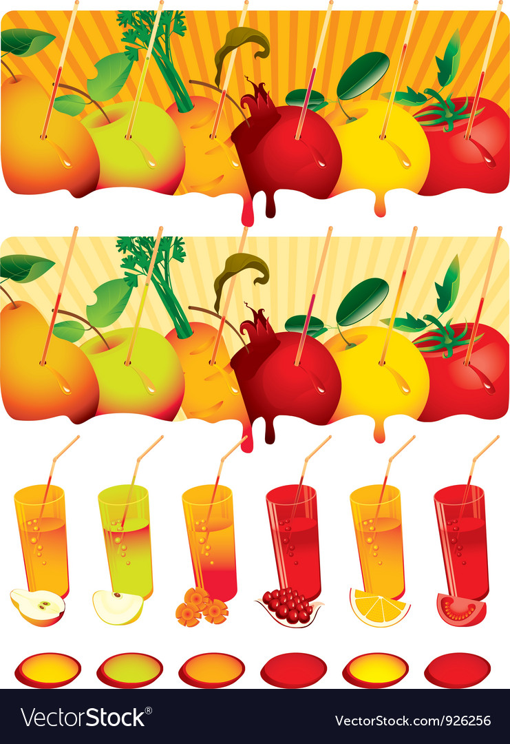 Set juice vector image