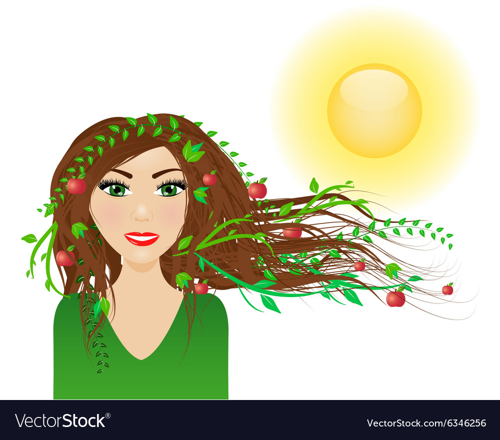 Summer female character vector image