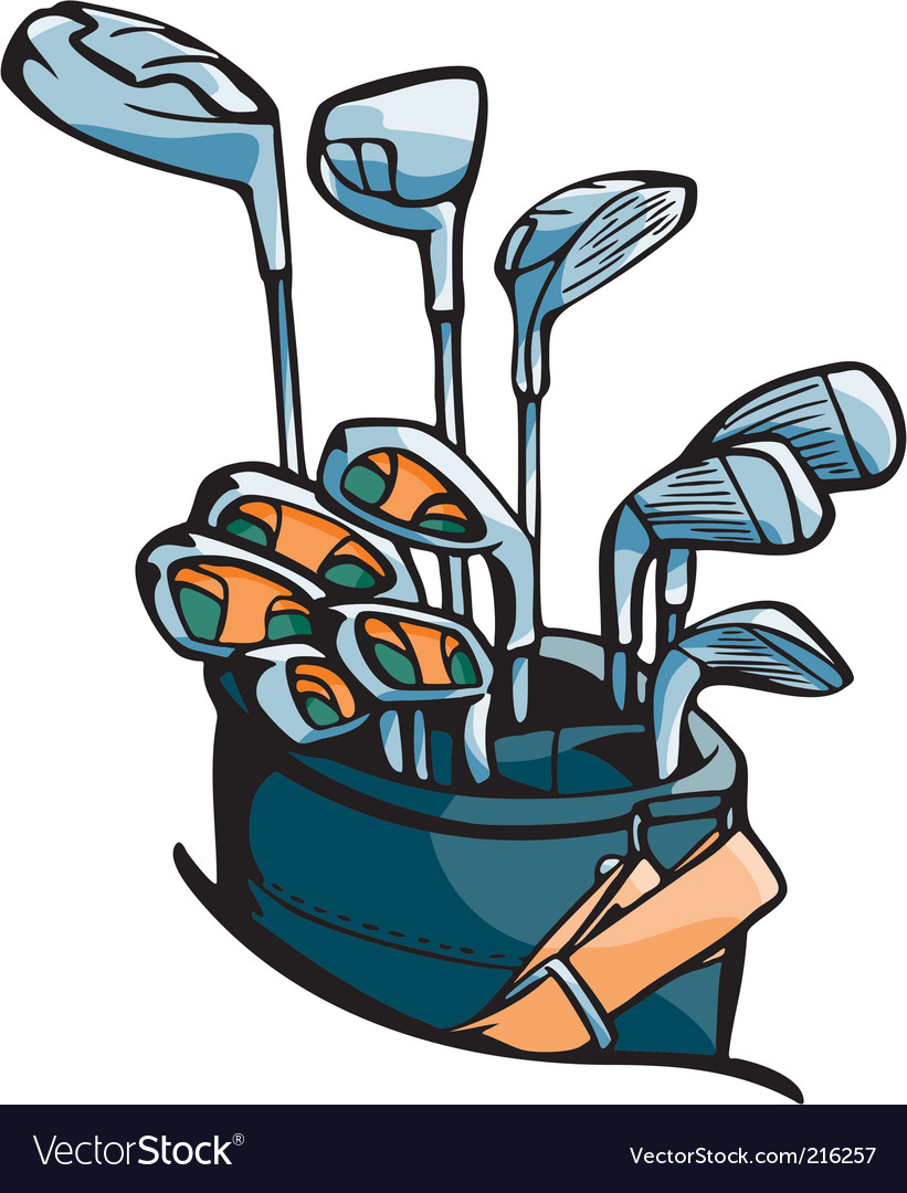 Golf set vector image