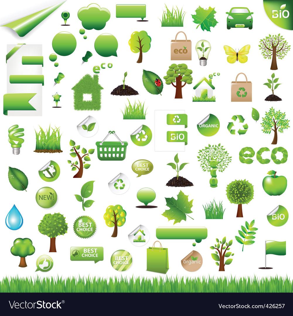 Eco design elements vector image