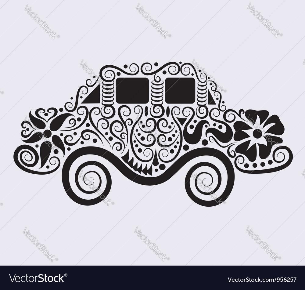 Car ornament vector image