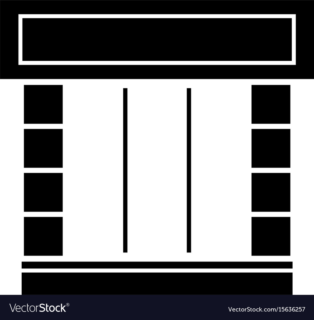 Shopfront the black color icon vector image